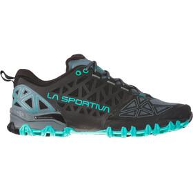 La Sportiva Bushido II - Zapatillas running Mujer - negro/Turquesa